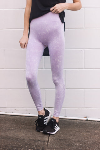 Lavender Mineral Wash Leggings