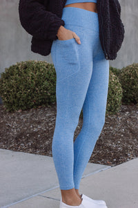 Leggings | Light Blue Seamless Set