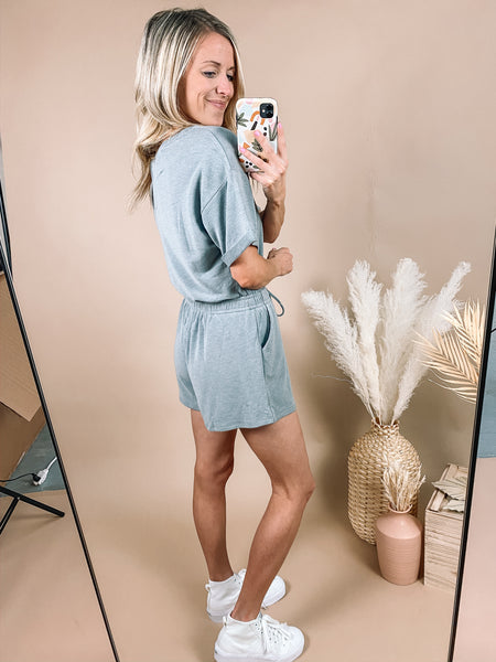 Grey Athleisure Romper