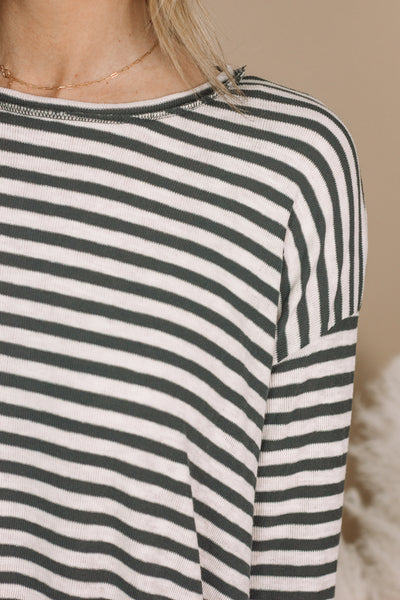 Striped Ribbed Long Sleeve