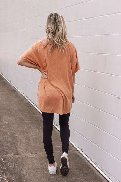 Boyfriend Tee // Burnt Orange
