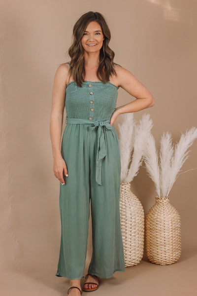 Sage Ruched Romper | Small - 3XL