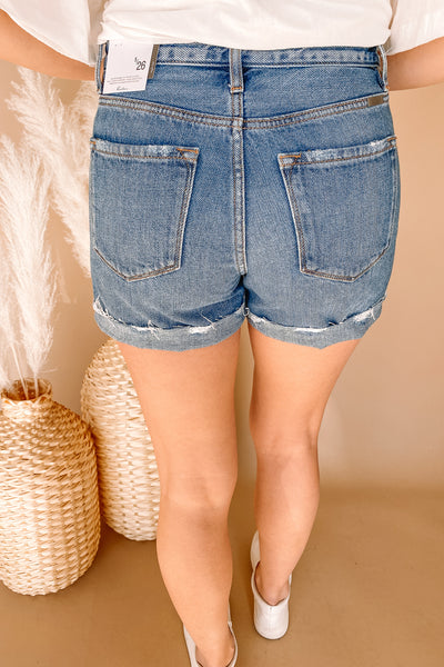Relaxed Distressed Jean Shorts