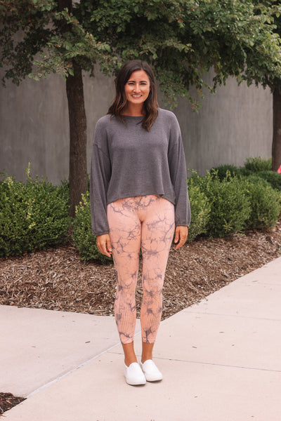Peach Tie Dye Leggings
