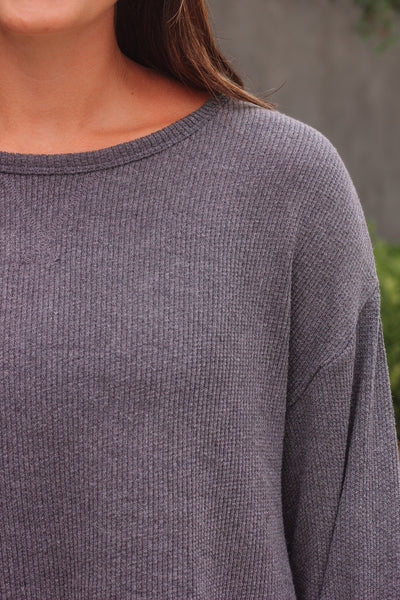 Cropped Charcoal Thermal
