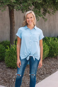 Chambray Knot Top