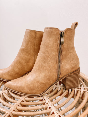 Brown Pointed Booties
