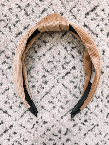 Soft Corduroy Headband | Tan