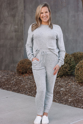 Heather Grey Two Piece Set