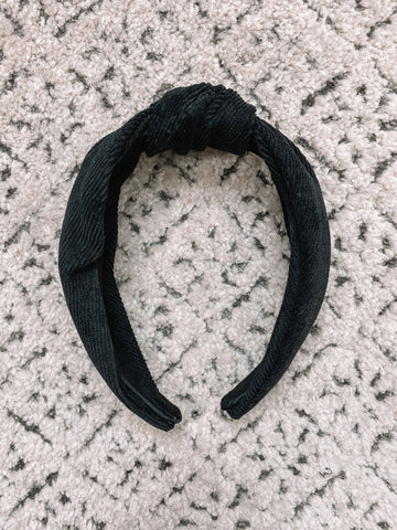 Soft Corduroy Headband | Black