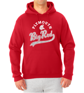 Big Red Sparkle Tail Hooded Sweatshirt