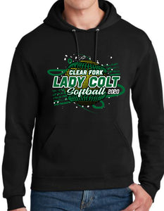 Clear Fork Softball Hooded Sweatshirt