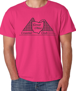 GOCC Black Design - Cyber Pink T-Shirt