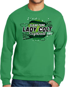 Clear Fork Softball Crew Neck Sweatshirt