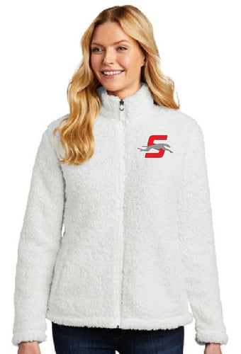 Ladies Embroidered Sherpa Full-Zip
