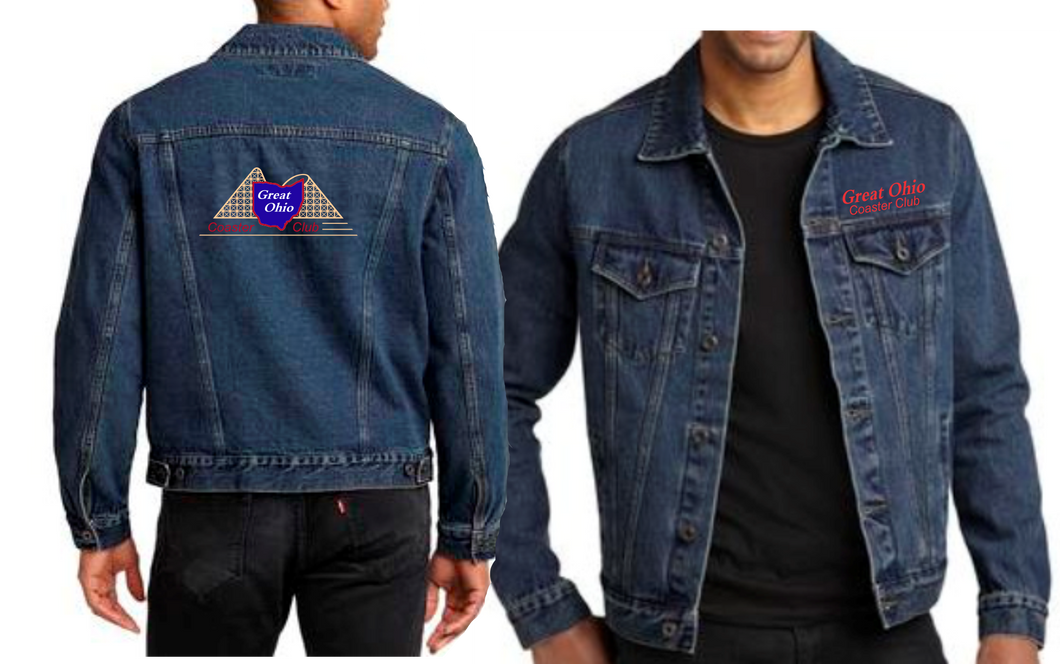 GOCC Full Color Embroidered - Mens Denim Jacket