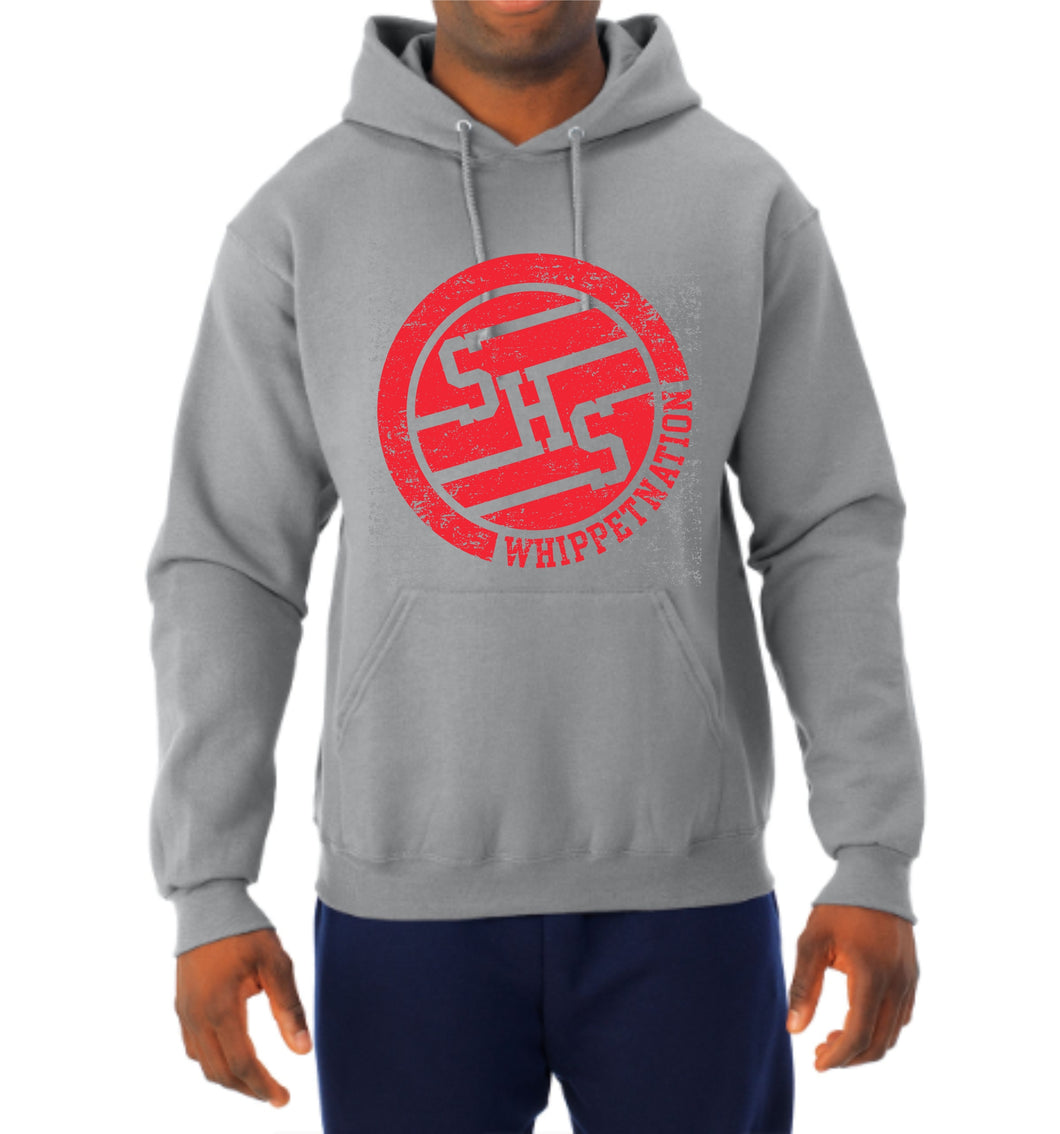 Whippet Nation Red Circle Hoodie