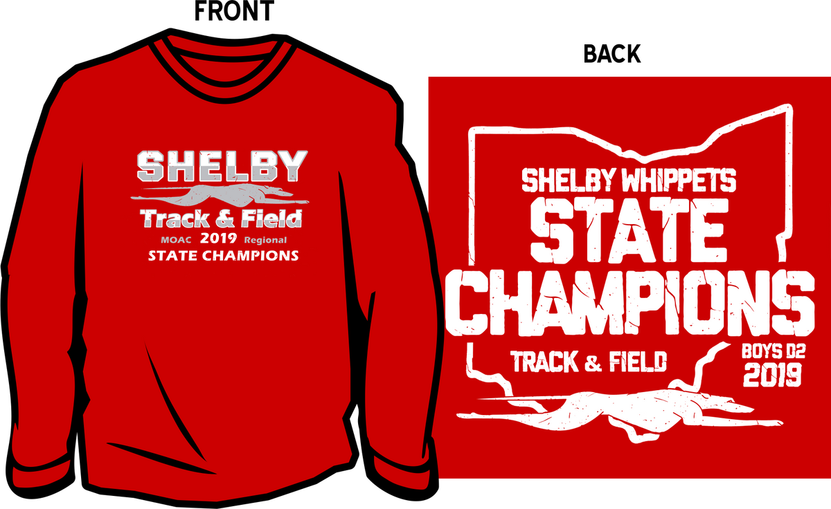 ea2179a3b5b8 Shelby State Champion Track Long Sleeve T-shirt – Cain Graphics