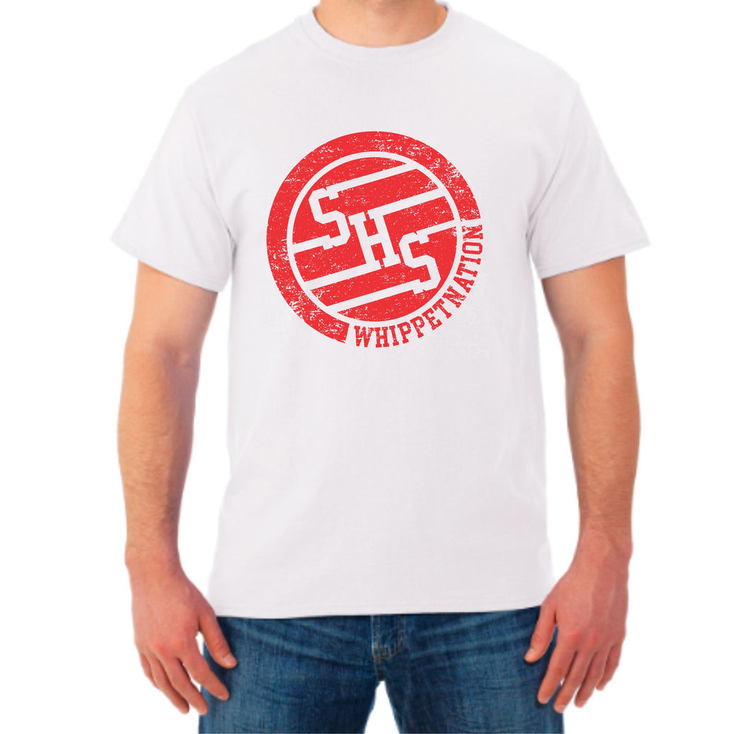 Whippet Nation Red Circle T-Shirt