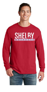 Shelby Whippet White and Grey Long Sleeve