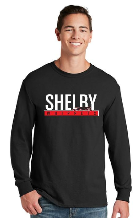 Shelby Whippet Red and White Long Sleeve