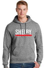 Load image into Gallery viewer, Shelby Whippet White and Red Hoodie