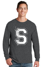 Load image into Gallery viewer, Silver Glitter Whippet Block S Long Sleeve