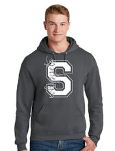 Load image into Gallery viewer, Silver Glitter Whippet Block S Hoodie
