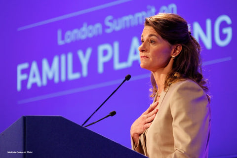 Melinda Gates speaking at the opening of the London Summiton Family Planning