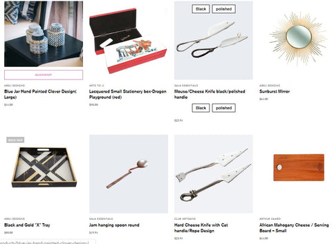 featured products on ClubArtisans.net