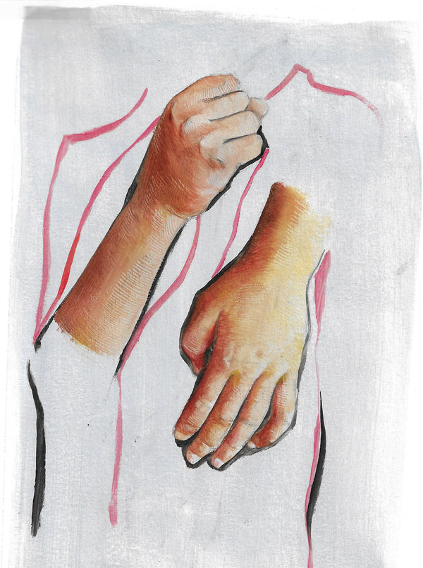 Disintegrated Hands Expression - Art Print