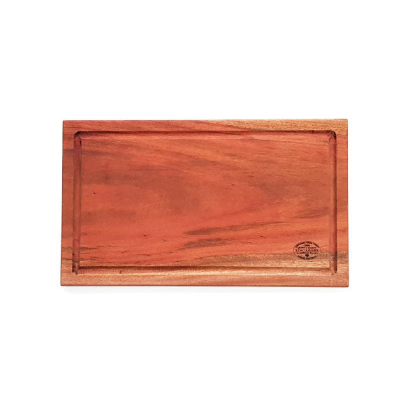 African Mahogany Rectangular Board with Juice Groove - Large