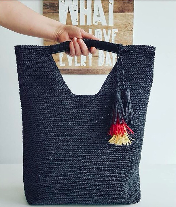 Handcrafted Hand Carry Multi-Purpose Crochet Bag