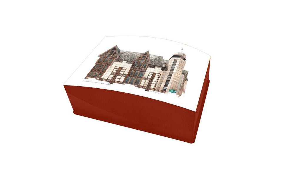 Lacquered Business Card box-Tanglin Place (red)
