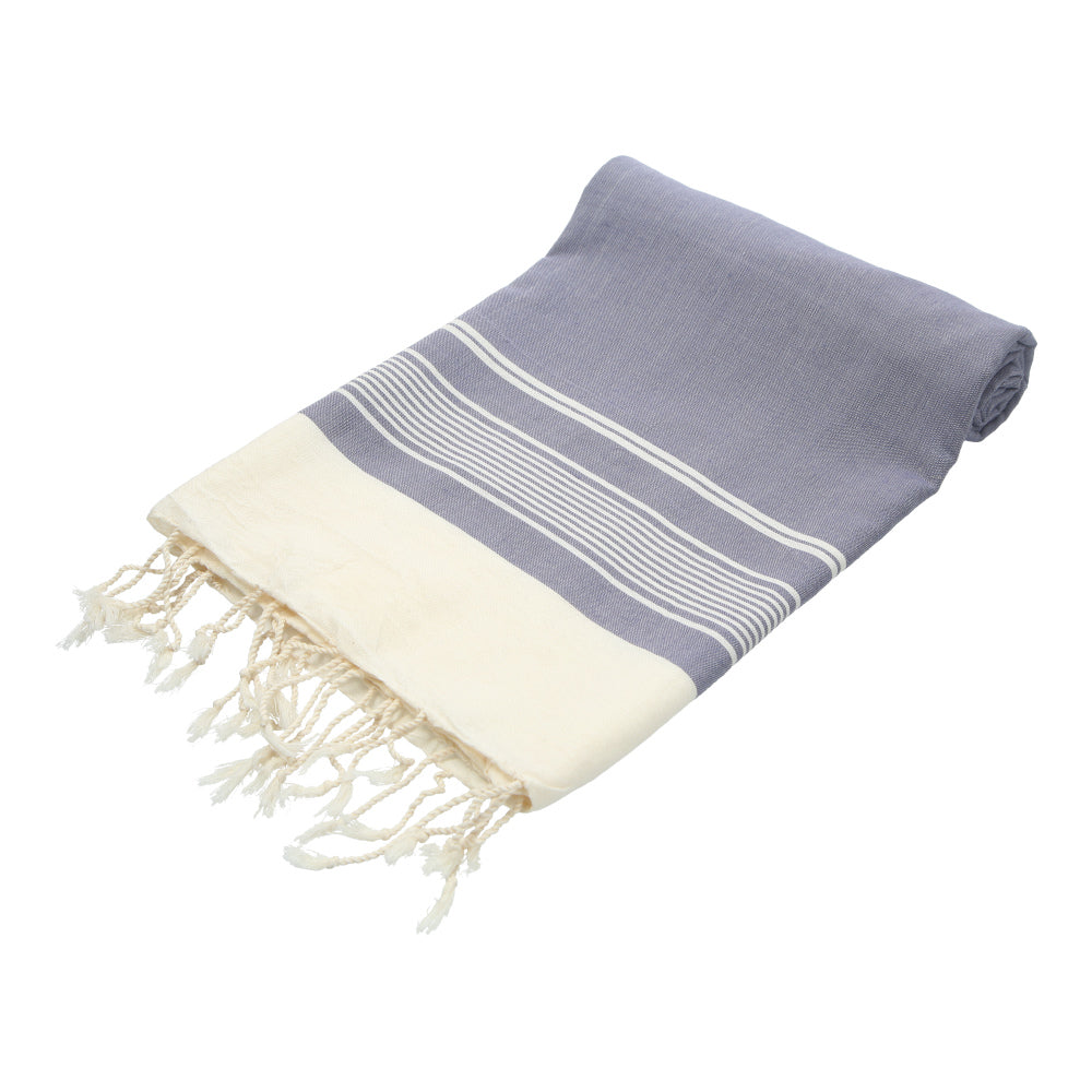 blue grey hand-made traditional bath towel