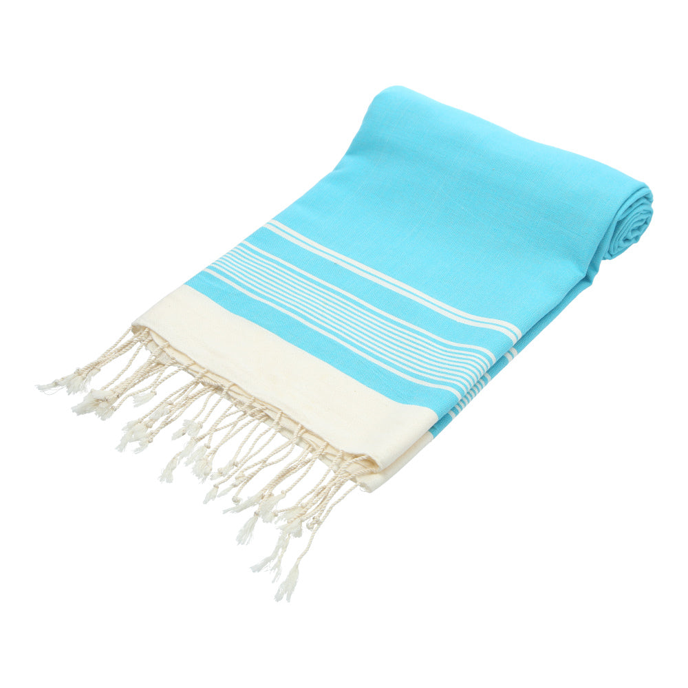 blue (turquoise) hand-made traditional bath towel