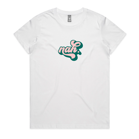Nah - Pink and Teal on White Pre-order
