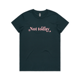 Not Today - Floss Pink on Navy