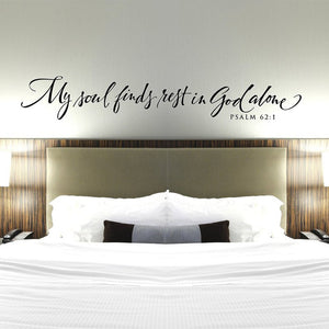 Psalm 62:1 Wall Decor/Decal