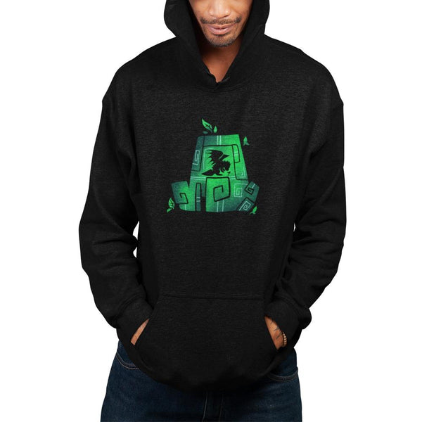 earth spirit hoodie black on model