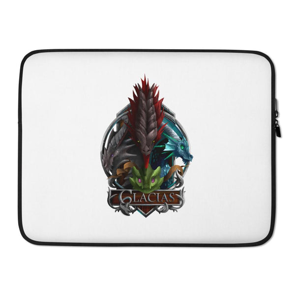 four dragons of glacias laptop sleeve front