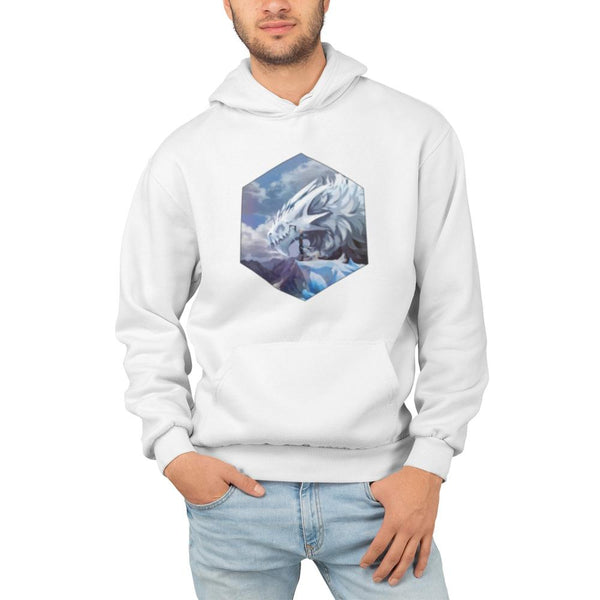 glacium hoodie white on model