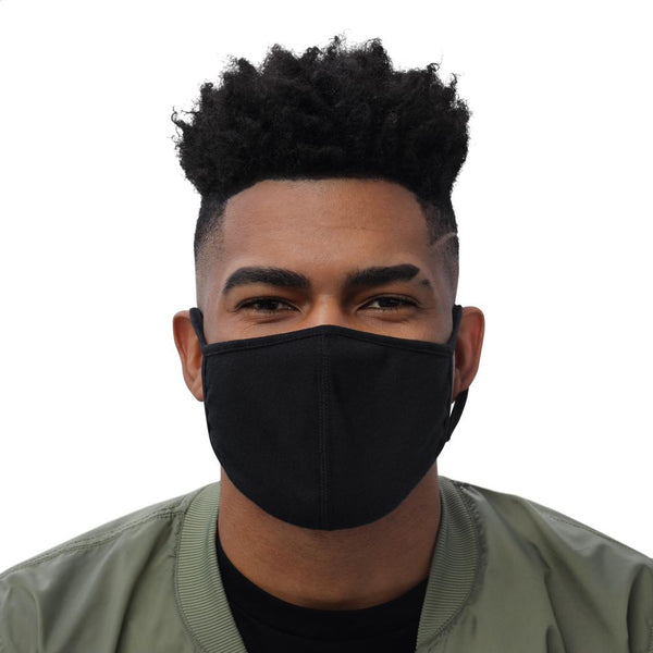 black face mask front angle size M