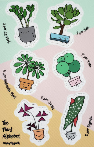 Plant Character Sticker Sheet #1