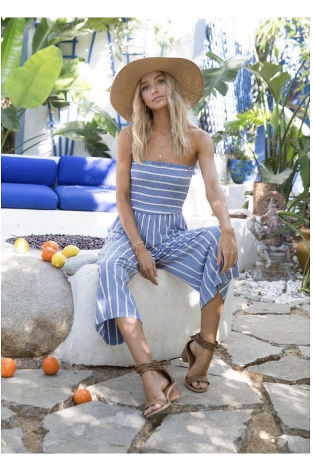 Positano Jumpsuit in Blue