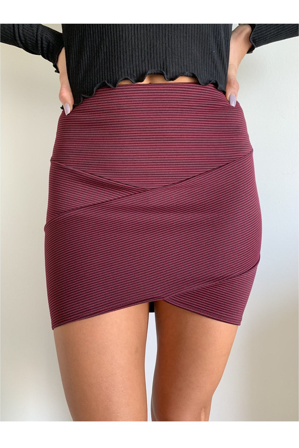 Garnet Bandage Mini Skirt