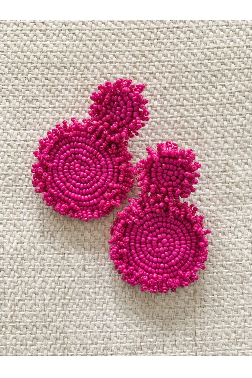 Bombay Earrings in Fuchsia