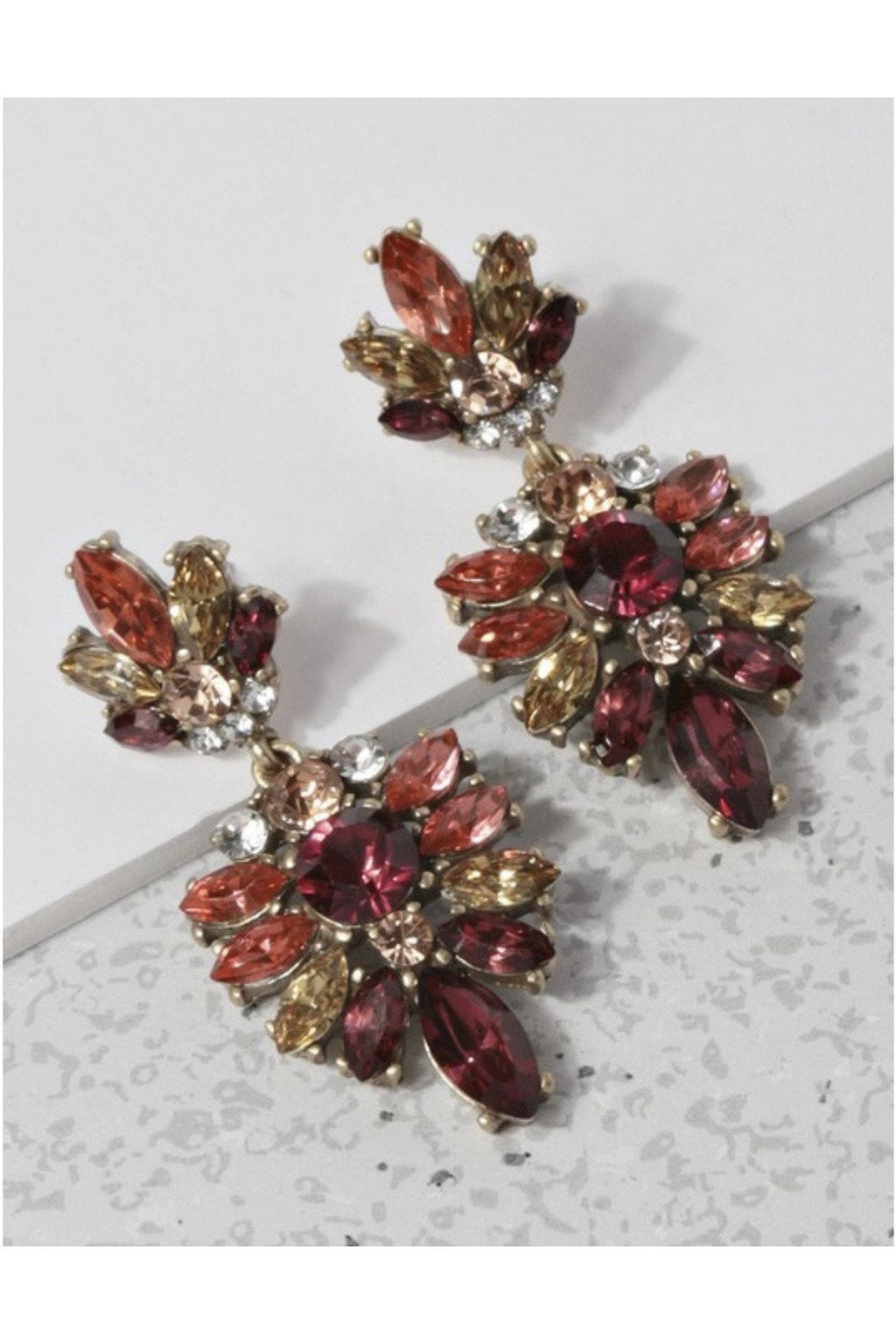 Arianna Earrings in Red