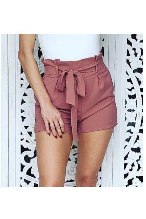Sabrina Shorts in Mulberry - Indigo Closet