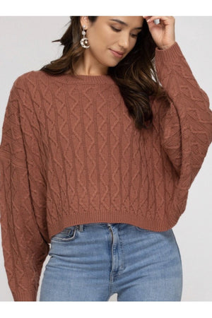 Madison Cable Knit Sweater